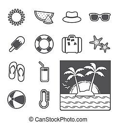 zomer, pictogram