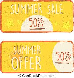 zomer, procent, aanbod, 50, verkoop, v