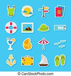zomer, reizen, stickers