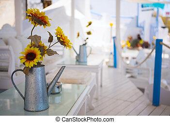 zomer, restaurant