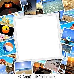 zomer, ruimte, vakantie, verzameling, foto's, kopie