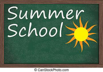 zomer, school