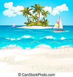 zomer, strand