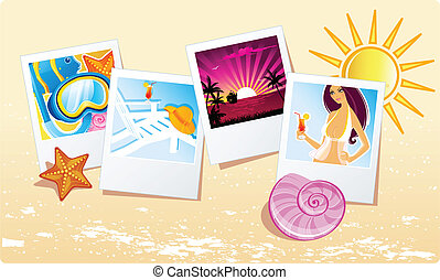 zomer, tropische , spandoek