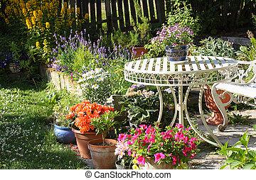 zomer, tuin, mooi