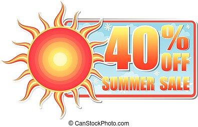 zomer, van, percentages, 40, verkoop, vec