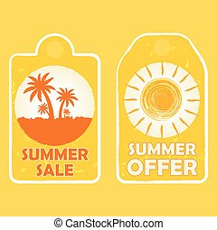 zomer, vector, aanbod, verkoop