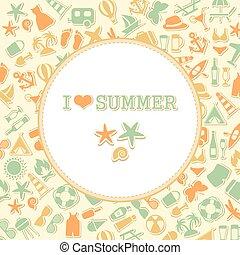 zomer, vector, achtergrond