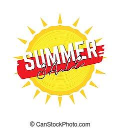 zomer, verkoop, etiket