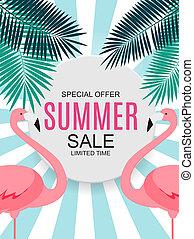 zomer, verkoop, illustratie, concept, achtergrond.