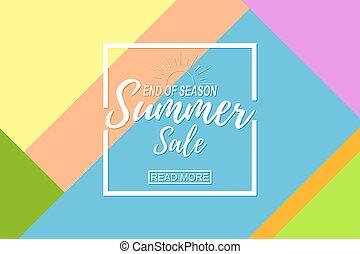 zomer, verkoop, mal, op, abstract, achtergrond.