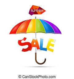zomer, verkoop, thema