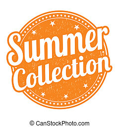 zomer, verzameling, postzegel