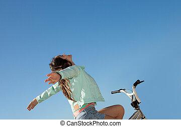 zomer, vrijheid, vrolijke , geitje
