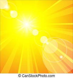 zomer, warme, zon