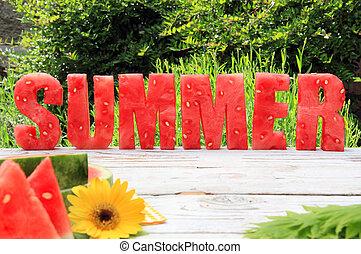 zomer, watermeloen