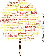 zomer, woord, ecologie, boompje, wolk