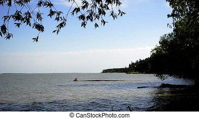 zomer, zee water, oppervlakte