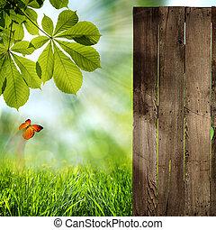 zomer, zelfs, abstract, achtergronden, open, jouw, doors!