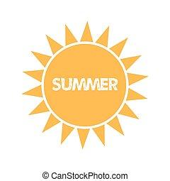 zomer, zon, pictogram