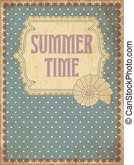 zomertijd, kaart, met, schaal, vector