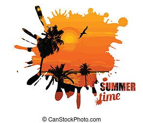 zomertijd, ontwerp, poster