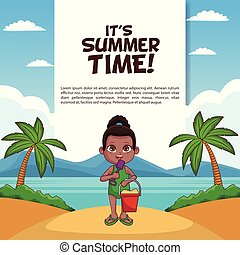 zomertijd, zijn, poster