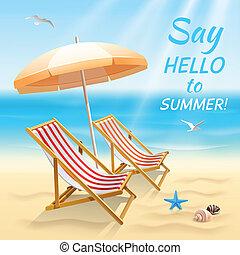 zomervakantie, achtergrond, behang