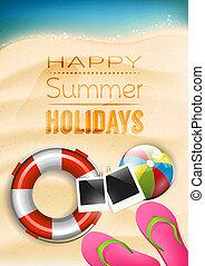 zomervakantie, poster