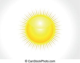 zon, abstract, vector, glanzend