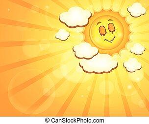zon, beeld, vrolijke , thema, 4