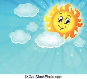 zon, beeld, vrolijke , thema, 6