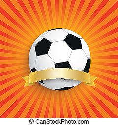 zon, de voetbal van de vlag, retro, gouden