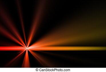 zon, energie, zonne flakkerend licht