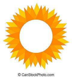 zon, etiket