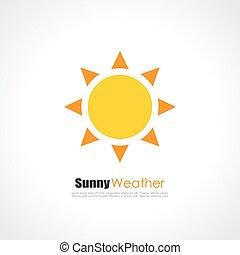 zon, gele, logo