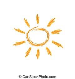 zon, geverfde
