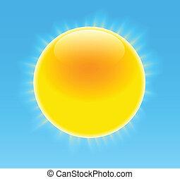 zon, glanzend