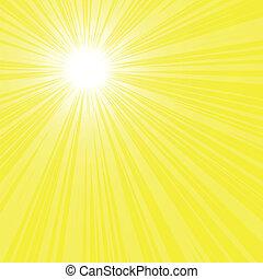 zon, helder, stralen, achtergrond