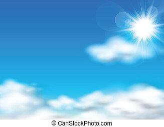 zon, hemel, achtergrond