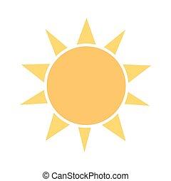 zon, icon., vector, illustratie