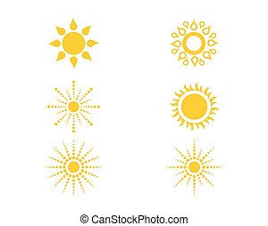 zon, illustratie, mal, logo