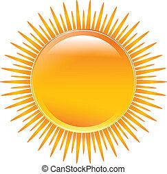 zon, kleuren, glanzend, levendig