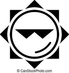 zon, koel, pictogram