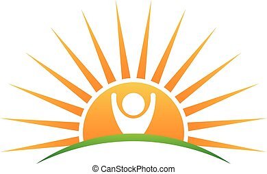 zon, leven, logo, mensen