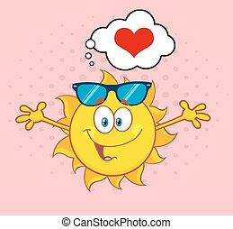 zon, liefdehart