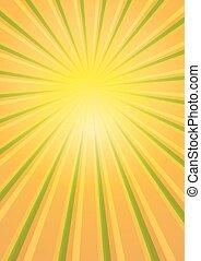 zon ontsteken, barsten