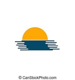 zon, op, zee