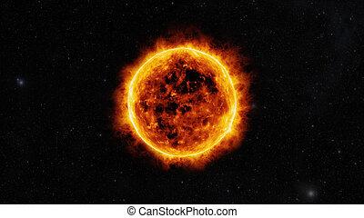 zon, oppervlakte