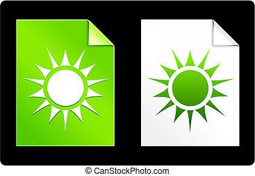 zon, papier, set